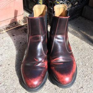 Doc Martens oxblood burgundy flora chelsea boots